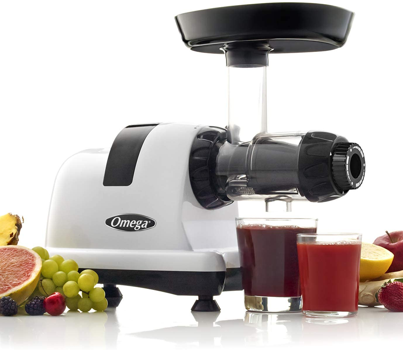 Omega J8006HDS Nutrition Center Quiet Dual-Stage Slow Speed Masticating Juicer Makes Fruit and Vegetable 80 Revolutions per Minute High Juice